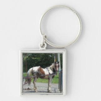 Pferd und Buggy Schlüsselanhänger