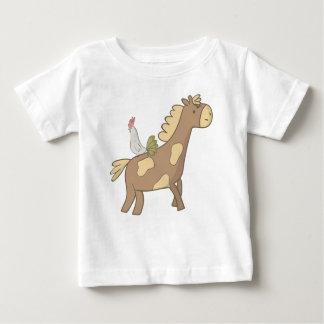 Pferd und Hahn Baby T-shirt