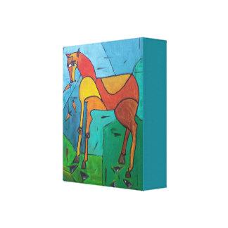 Pferd und Karotten Leinwanddruck