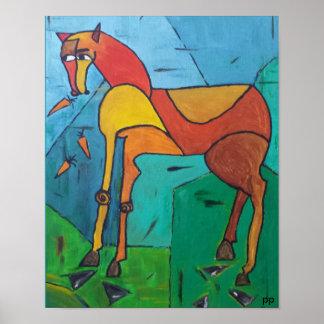 Pferd und Karotten-Plakat Poster
