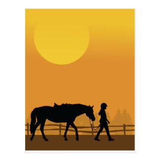 Pferd und Kind Postkarte