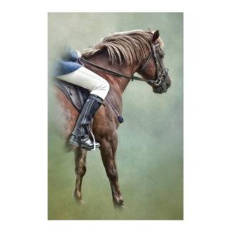 Pferd und Reiter Briefpapier