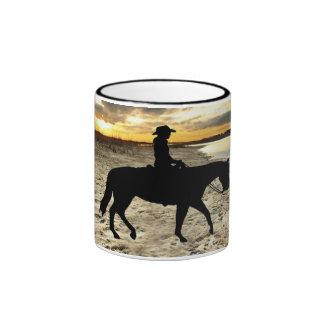 Pferd und Reiter-Tasse Ringer Tasse