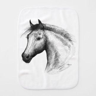 Pferd:  Weiß Baby Spucktuch