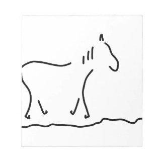 pferd wildpferd reiten notizblock