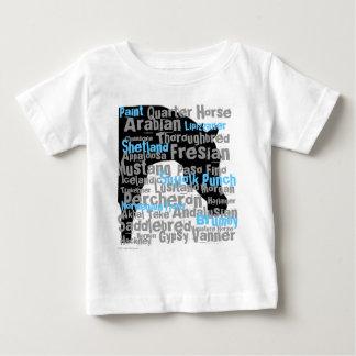 """""""Pferd züchtet"""" Säugling T Baby T-shirt"""