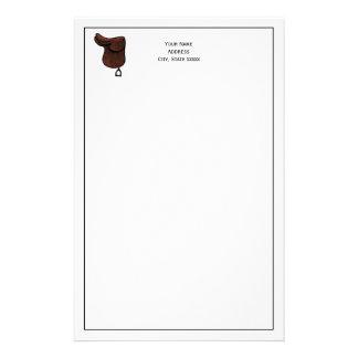 Pferde - adrette Reiterreißnagel-Sattel-Farbe Briefpapier
