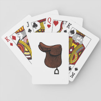 Pferde - adrette Reiterreißnagel-Sattel-Farbe Spielkarten