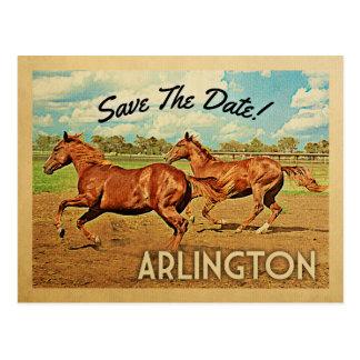 Pferde Arlingtons Texas Save the Date Postkarte