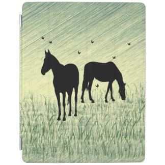 Pferde auf dem Gebiet iPad Hülle