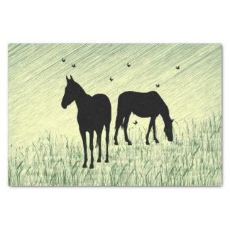 Pferde auf dem Gebiet Seidenpapier