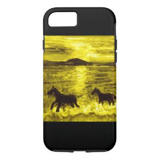 Pferde auf einer goldenen Küste iPhone 8/7 Hülle