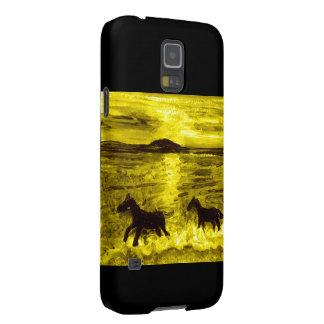 Pferde auf einer goldenen Küste Samsung Galaxy S5 Hülle