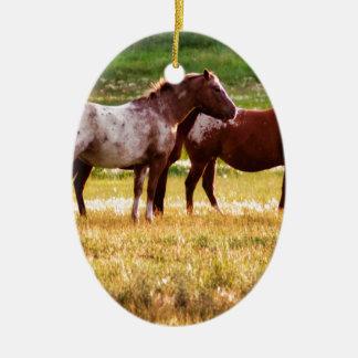 Pferde auf Weide Keramik Ornament