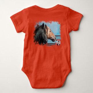 Pferde/Cabalos/Horses Baby Strampler