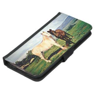 Pferde/Cabalos/Horses Samsung Galaxy S5 Geldbeutel Hülle