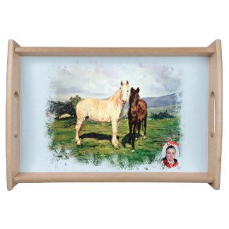 Pferde/Cabalos/Horses Serviertablett