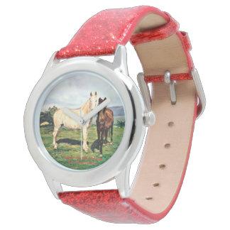 Pferde/Cabalos/Horses Uhr