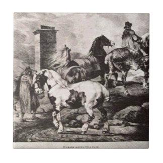 Pferde, die zu einer Messe durch Theodore Keramikfliese