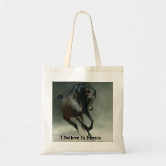 Pferde I glauben Taschen-Tasche Budget Stoffbeutel