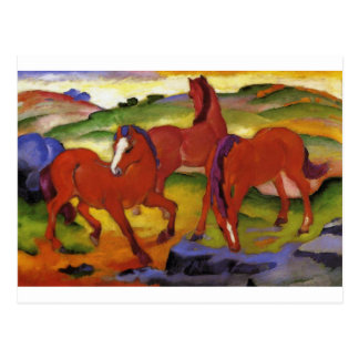 Pferde IV (die roten Pferde) durch Franz Marc Postkarte