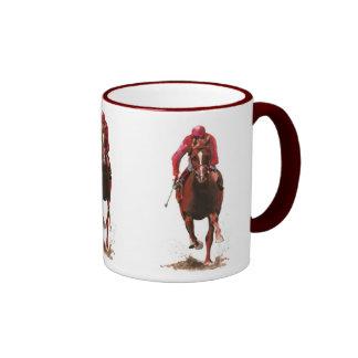 Pferde, Jockeymann Ringer Tasse