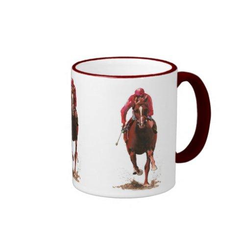 Pferde, Jockeymann Kaffee Tassen