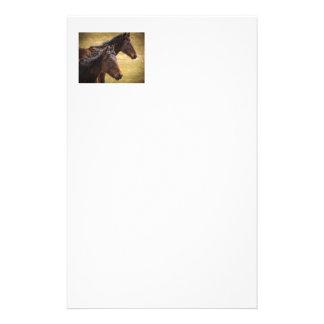 Pferde nebeneinander briefpapier