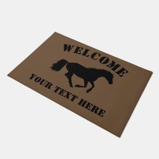 Pferde- oder Ponyreiterwillkommen Türmatte