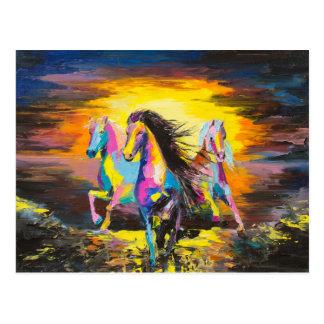 Pferde Postkarte