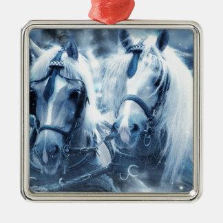 Pferde Silbernes Ornament