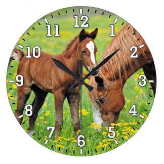Pferde-u. Fohlen-Wanduhr Uhr