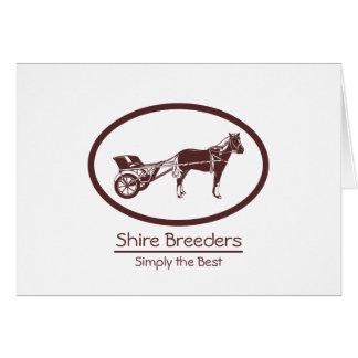 Pferde-und Buggy-Logo Karte