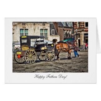 Pferde-und Buggy-Taxi - glücklicher Vatertag Karte
