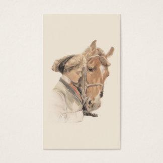 Pferde-und Damen-Gorgeous Visitenkarte