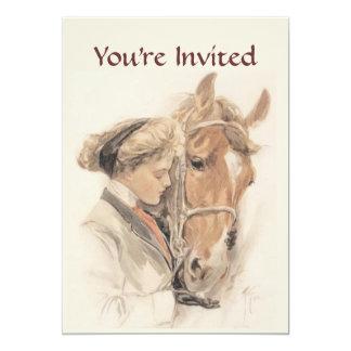 Pferde-und Damen-Vintage Party Einladung