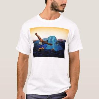 Pferde und Eagles im Grand Canyon T-Shirt