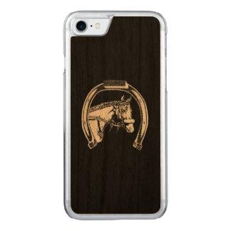 Pferde-und Hufeisen-Kratzer-Kunst Carved iPhone 8/7 Hülle