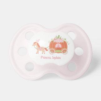 Pferde-und Kürbis-Wagen-Baby-Prinzessin Schnuller