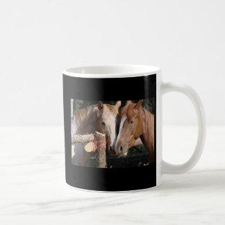 Pferde verlassen Abdrücke auf Ihrem Herzen Kaffeetasse