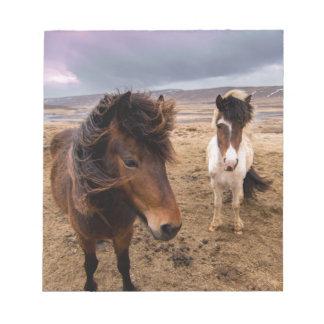Pferde von Island Notizblock