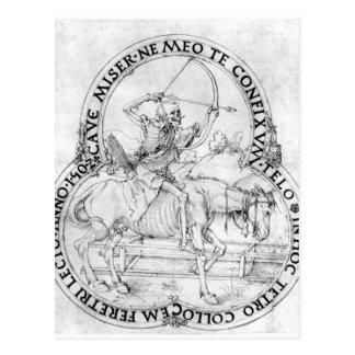 Pferdeabschließender Tod durch Albrecht Durer Postkarte
