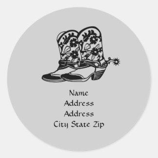Pferdeadressen-Etikett Runde Sticker