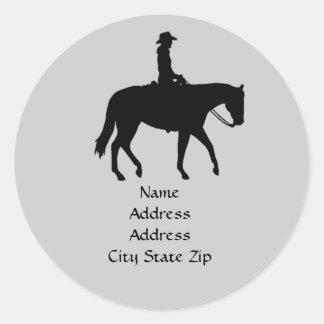 Pferdeadressen-Etikett Runder Aufkleber