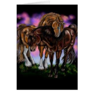 Pferdeartige Devotion~ Grußkarte