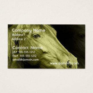 Pferdeartige Kunst-Visitenkarte Visitenkarten