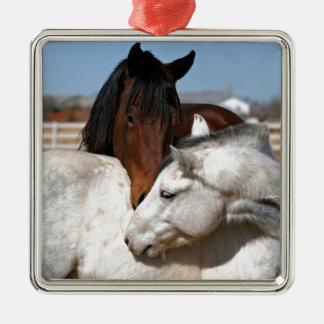 pferdeartiger Western der Pferdebauernhof-Ranch Silbernes Ornament