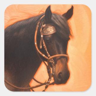 Pferdeaufkleber Quadratischer Aufkleber