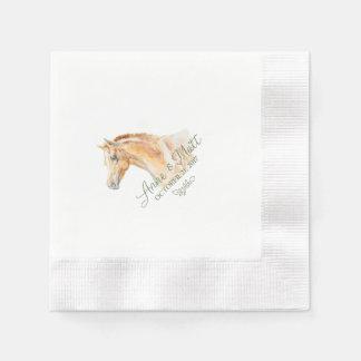 Pferdebauernhof-Hochzeitscocktailserviette Serviette