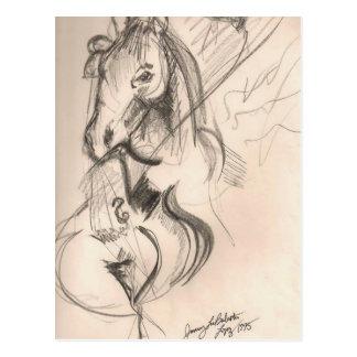 PferdeCello-Entwurf Postkarte